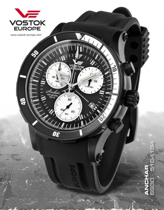 ebef46fb3 pánske hodinky Vostok-Europe ANCHAR Submarine chrono line 6S30/5104184