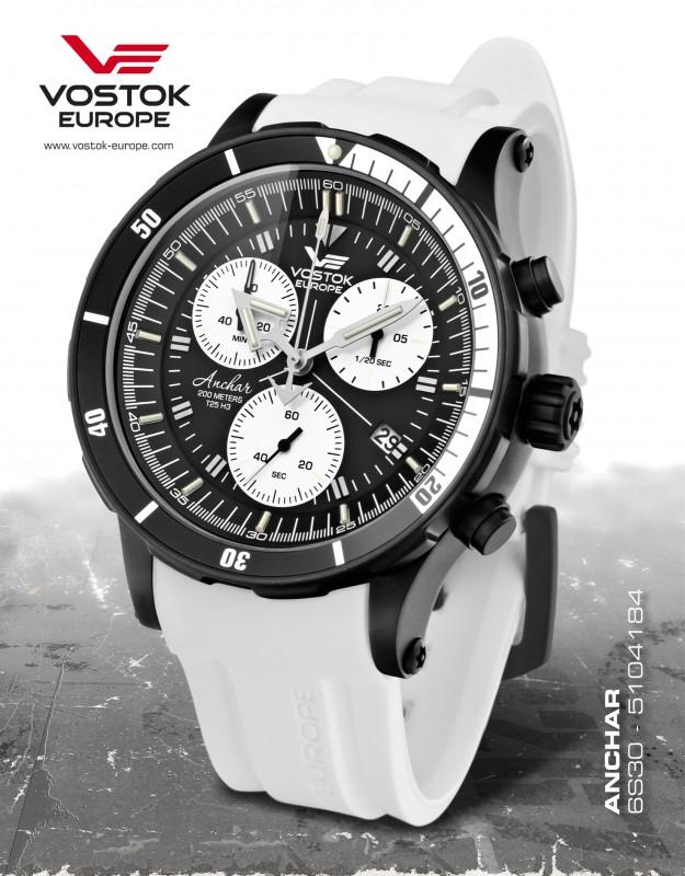 pánske hodinky Vostok-Europe ANCHAR Submarine chrono line 6S30 5104184 4a27fc84f72