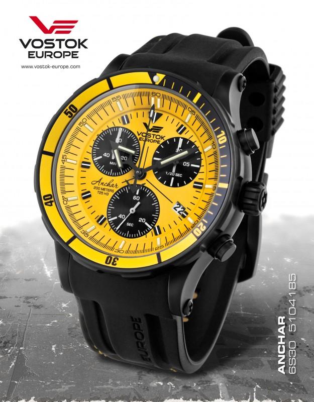 094880edb pánske hodinky Vostok-Europe ANCHAR Submarine chrono line 6S30/5104185