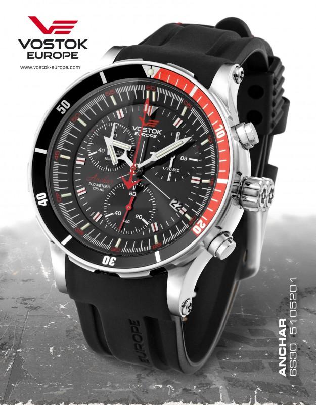 df07f738d pánske hodinky Vostok-Europe ANCHAR Submarine chrono line 6S30/5105201