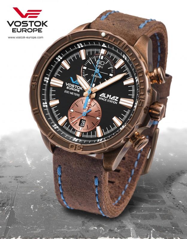 pánske hodinky Vostok-Europe ALMAZ bronze line 6S11 320O266 ... 81f08610a7