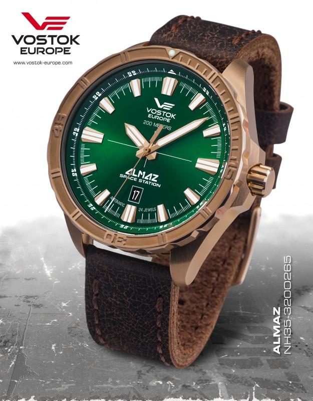 pánske hodinky Vostok-Europe ALMAZ bronze line NH35A 320O265 ... 10709cc457
