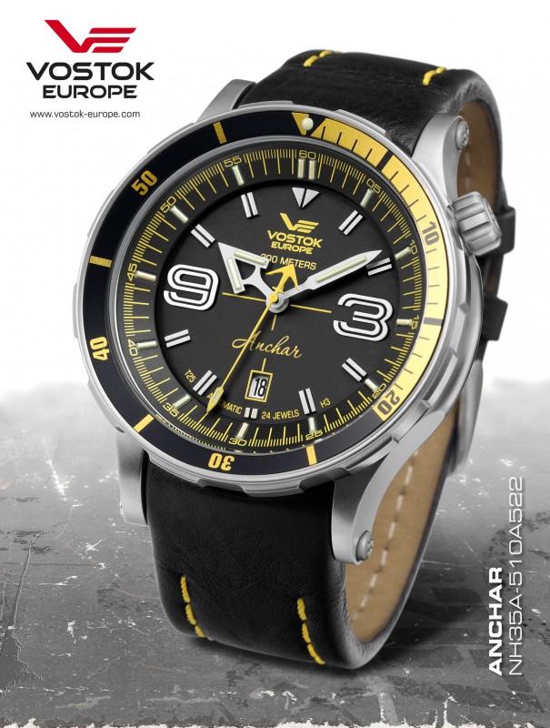 pánske hodinky Vostok-Europe ANCHAR Submarine automatic line NH35A 510A522 206092a1803