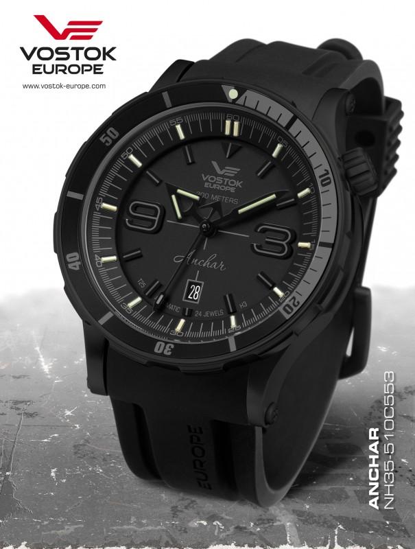 pánske hodinky Vostok-Europe ANCHAR Submarine automatic line NH35A 510C553 15a346c053a