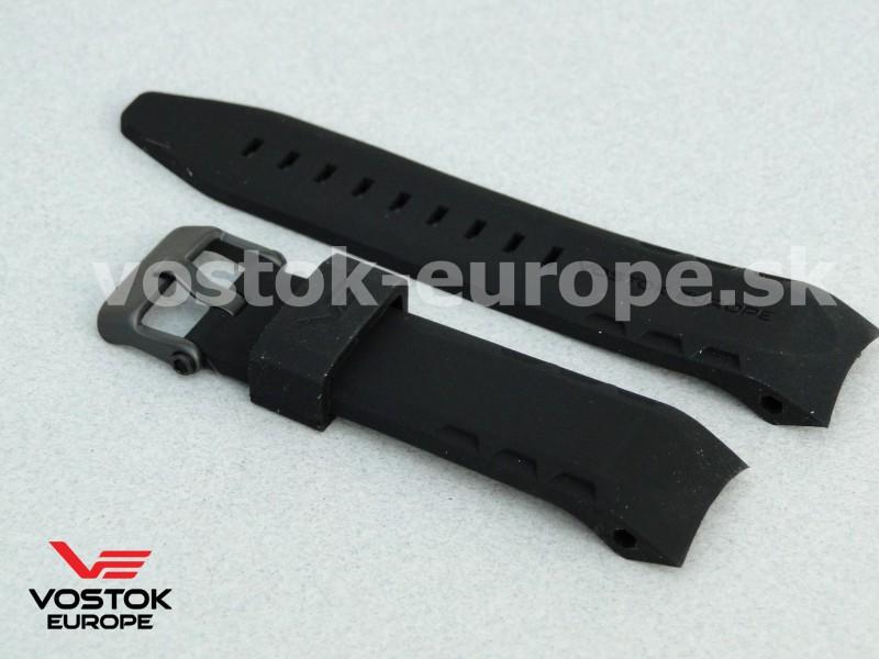 čierny silikónový remienok na model LUNOCHOD NH35A 6204208 a0b3806ce3