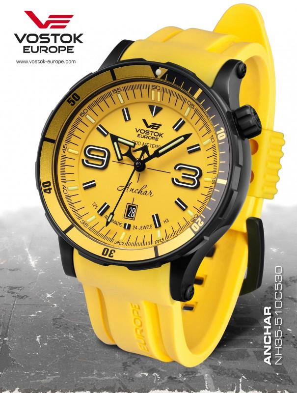 8f180bc3c pánske hodinky Vostok-Europe ANCHAR Submarine automatic line NH35/510C530