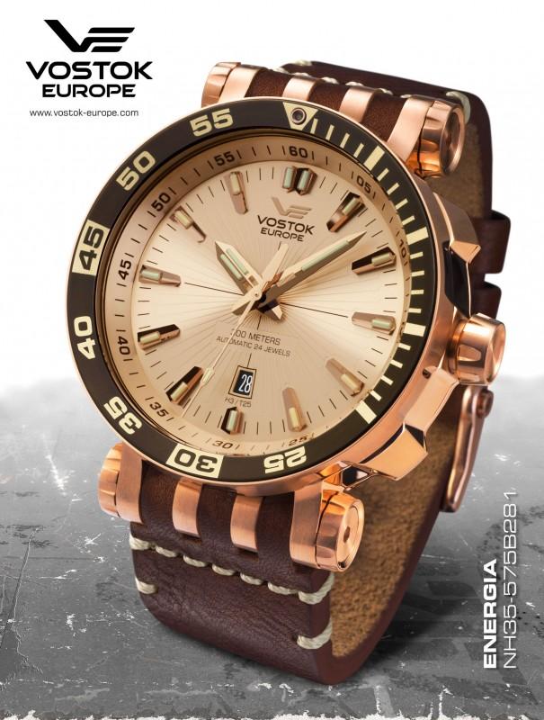 pánske hodinky Vostok-Europe ENERGIA Rocket Stainless steel line  NH35 575B281 75f7657dcb