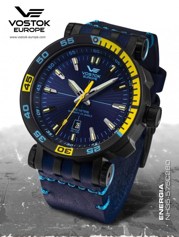 pánske hodinky Vostok-Europe ENERGIA Rocket Stainless steel line  NH35 575C280 c2ed52cf4c